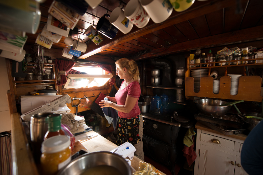 Annie in the Galley Photo by Douglas Merriam