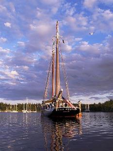 J&E Riggin anchored in North Haven By David Delperdang