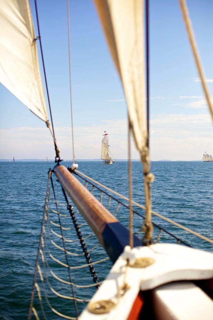 Sailing across Penobscot Bay Photo by Ben Krebs