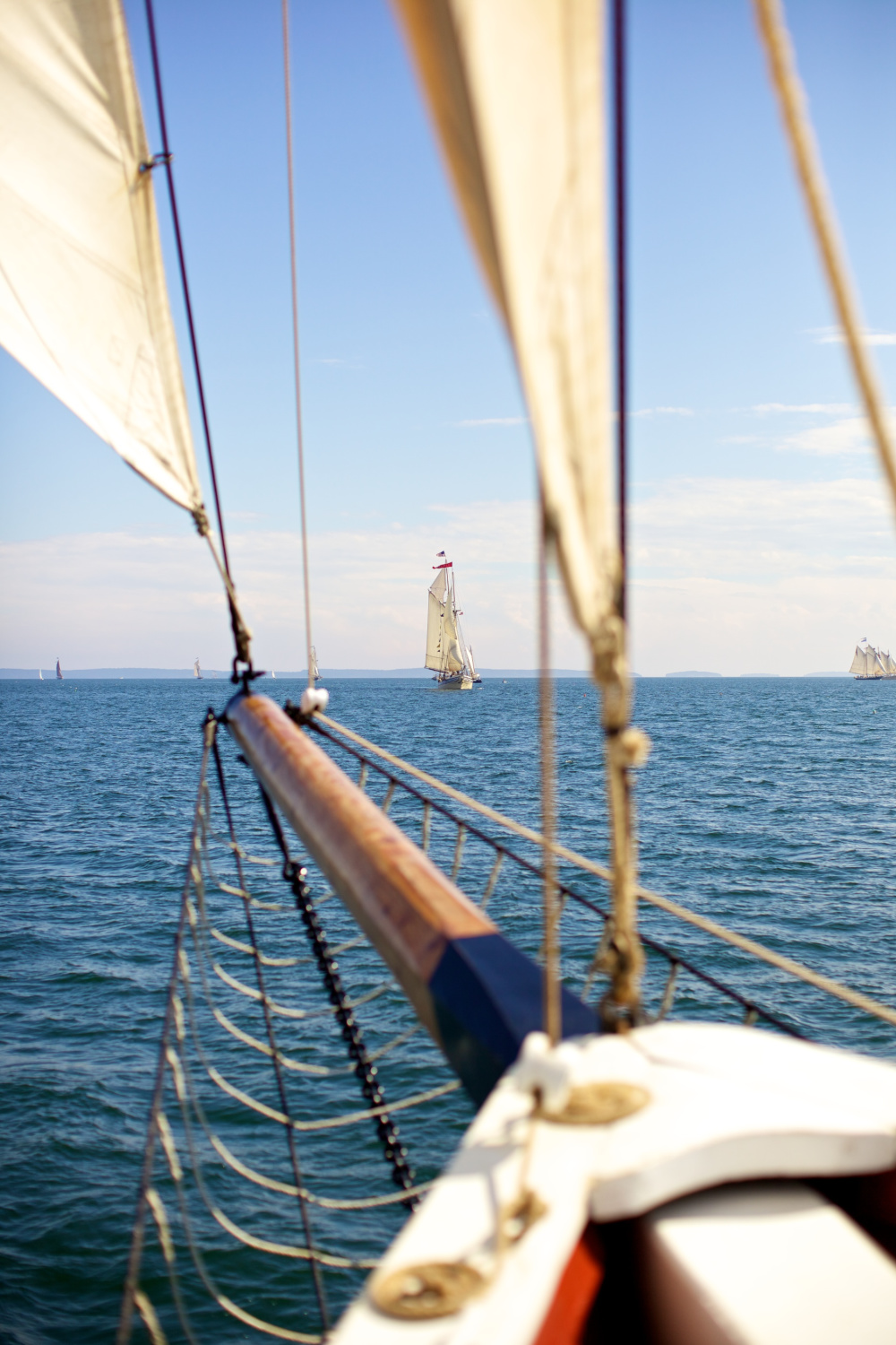 Sailing across Penobscot Bay Photo by Ben Krebs