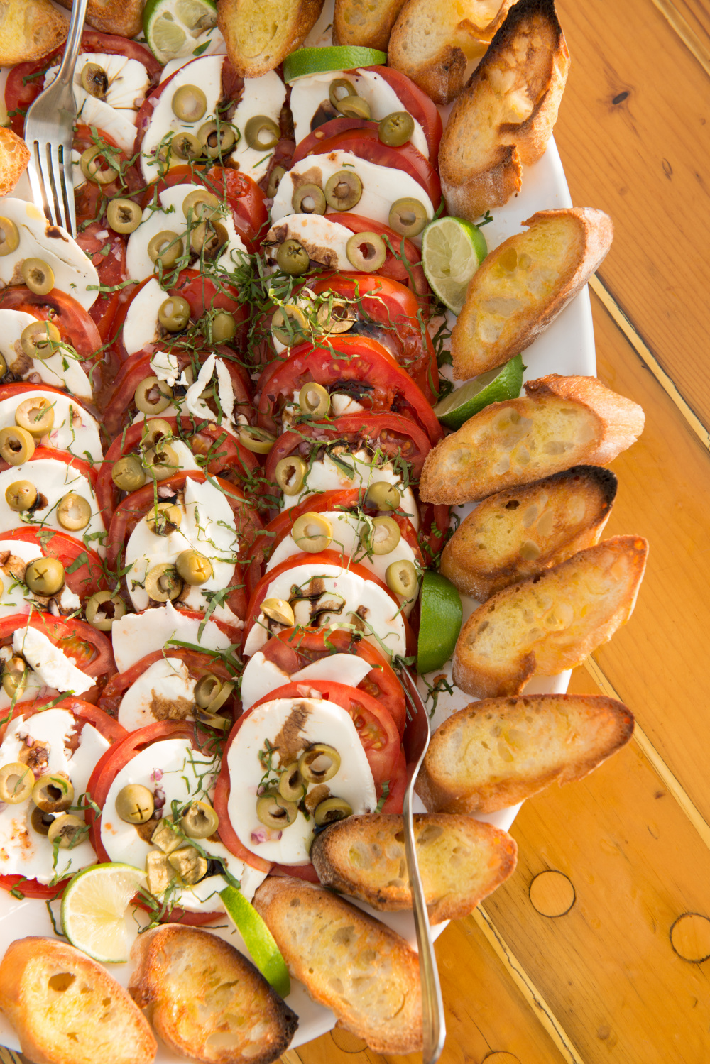 Caprese Crostini Photo by Douglas Merriam
