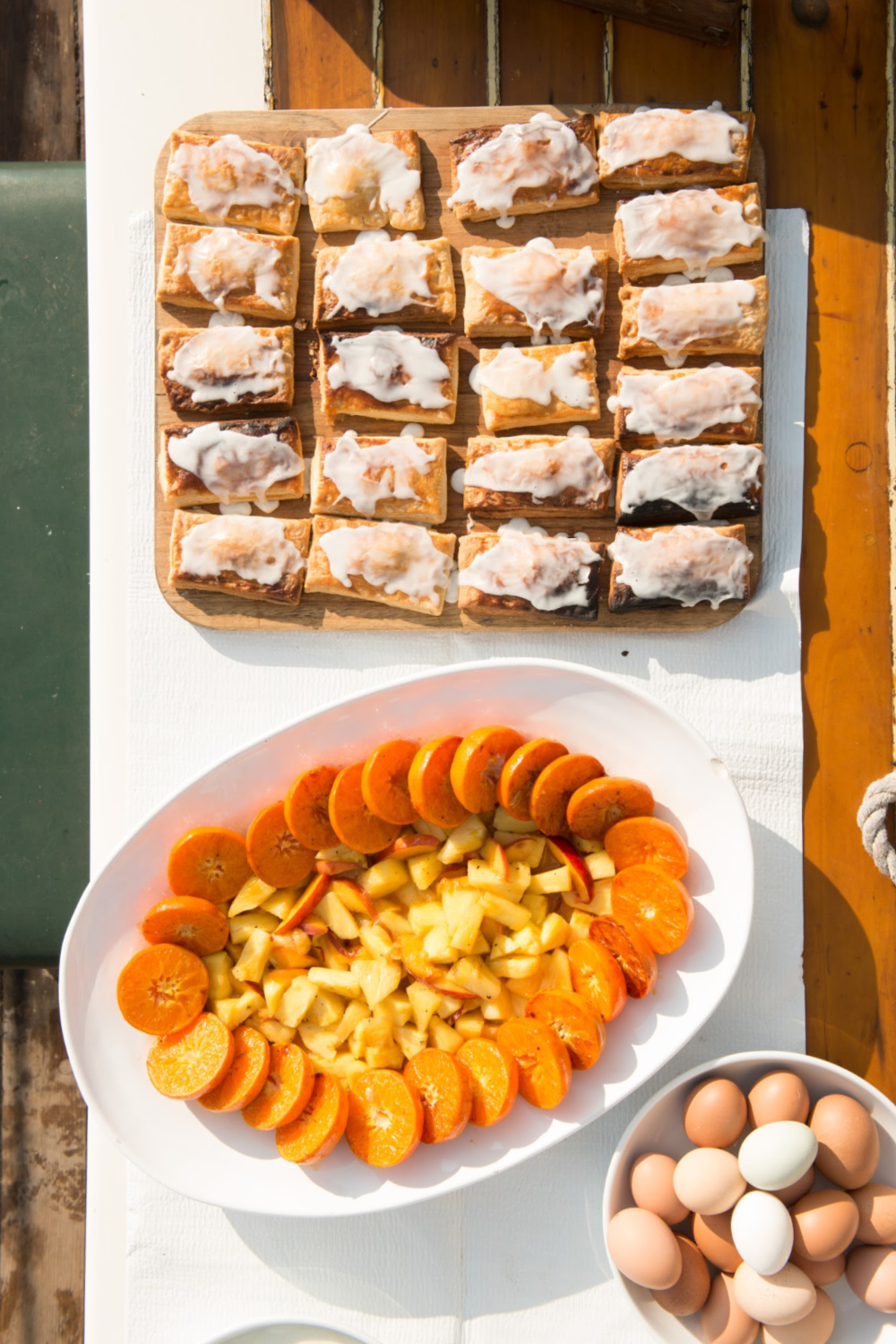 Honey Seared Clementines with pineapple and peaches, Riggin Pop Tarts Photo by Douglas Merriam