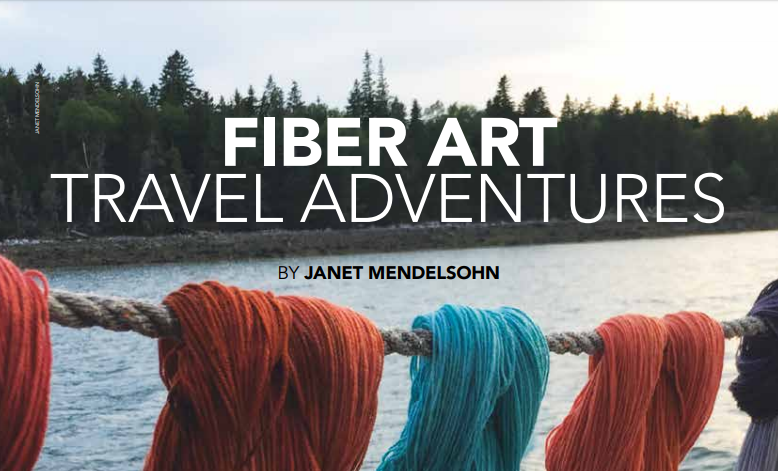 knitting vacation, knitting retreat, knitting cruise, knitting trip, fiber arts now, janet mendelsohn, maine windjammer