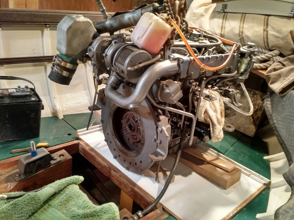 marine engine work