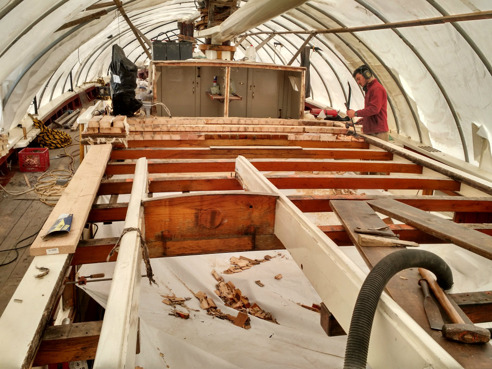 maine windjammer wooden boat repair