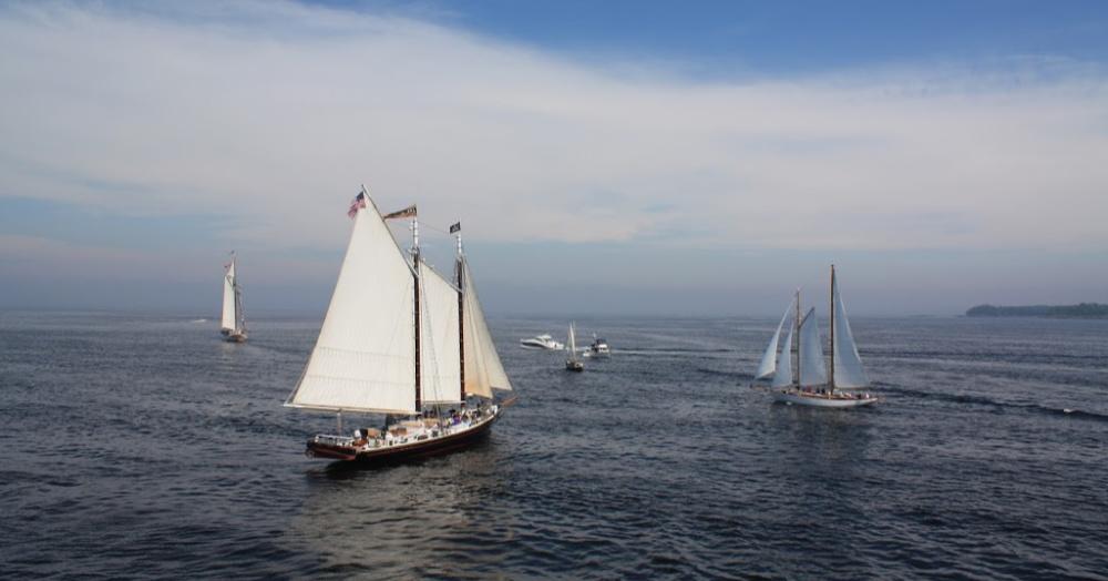 Schooner J&E Riggin Out to Sea  Photo by Elizabeth Poisson