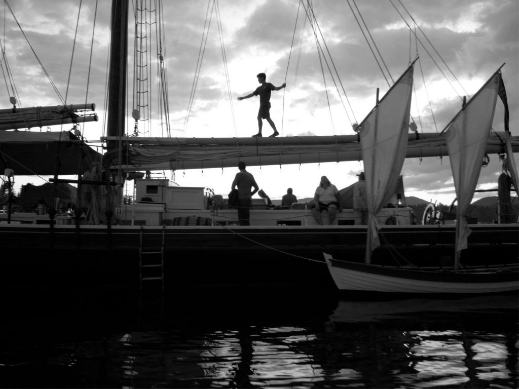 Peter Pan on the Maine Windjammer, Schooner J&E Riggin