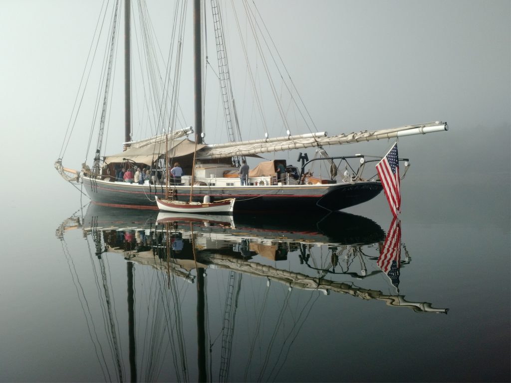 Reflections of the Maine Windjammer, Schooner J. & E. Riggin, Penobscot Bay, Maine