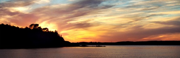 Maine Island Sunset by Maureen Riley