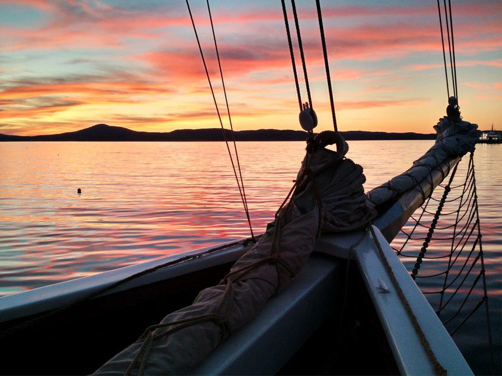 Maine Windjammer Schooner J. & E. Riggin, Penobscot Bay, Maine