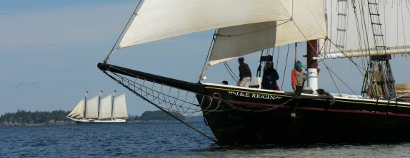 Riggin sailing on a broad reach by Susan Lynch