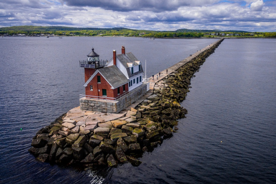Rockland Breakwater Lighthouse Photo by Isaac Crabtree